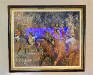"""$1,800 Original pastel by Fay Moore.  Framed 41"""" x 36""""."""