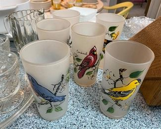 frosted bird glasses