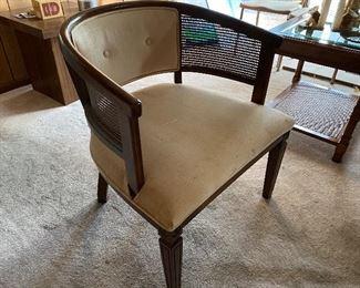 cane barrel chair
