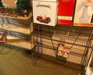 vintage wire shelves