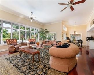 Wide Angle Photo of Family Room - this just gives you an idea of how the furniture was laid out in this family room!