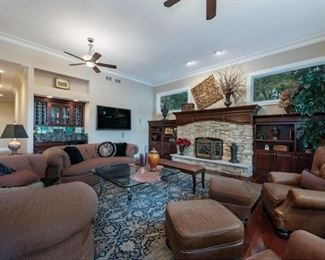 Wide Angle Photo of Family Room