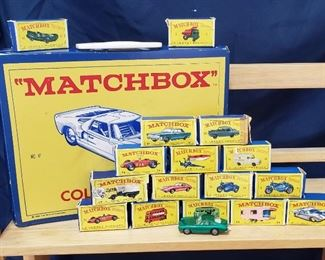Vintage Matchbox Cars and Matchbox Carrying Case