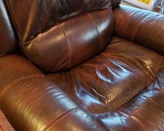 Bernhardt brown leather sofa