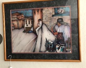 Southwester framed print