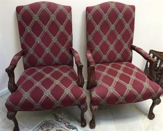 Matching armchairs.