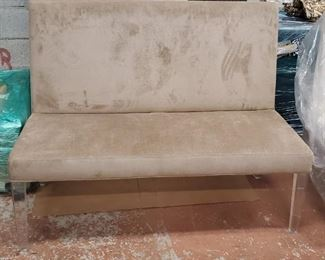 D/R Bench (Lucite Legs &  Fabric)