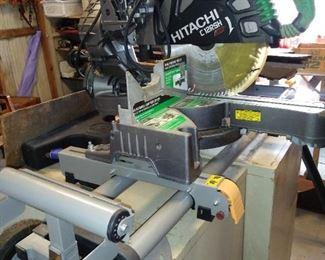 Hitachi Laser Miter Saw with stand