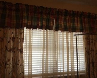 These are the matching window treatments with rod and hardware