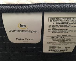 The mattress on the full bed is only 9 months old and is a Serta Perfect Sleeper and is adjustable