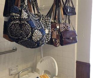 Great purses and bags,  a bath/shower chair health aid.