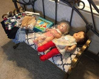 Vintage Dolls, doll tea set