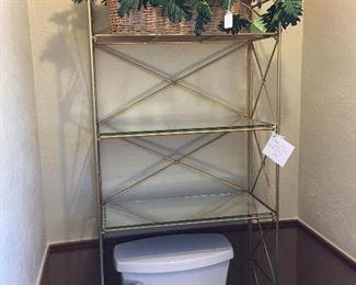 Vintage over the toilet shelves