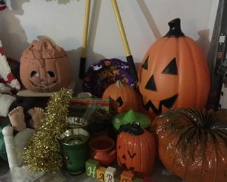 Halloween and Thanksgiving Decorations