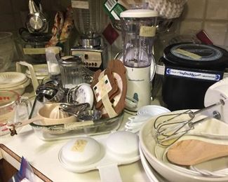 Lots of small appliances, utensils