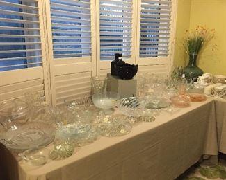 Lots of great glass, including seasonal, Tiara, Mikasa