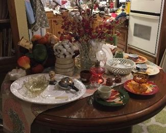 Kitchen Table full of seasonal dishes