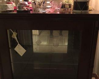 Small mahogany display cabinet