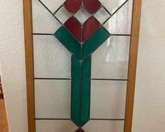 stained glass panel - mission