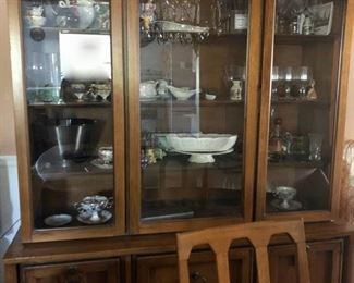 Vintage dining table & china cabinet