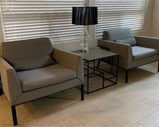 Custom Chairs Pair