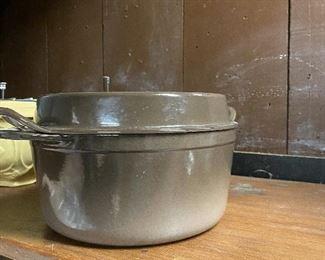 Vintage Le Creuset Doufeu 5qt (roaster). Convex lid design claims to offer a moister roast. $65