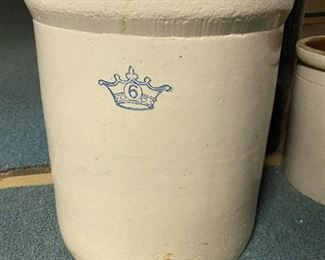 Six gallon crock $60