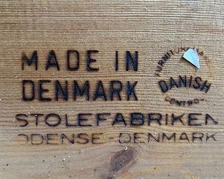 """Danish Modern teak single bed. """"Stolefabriken Odense-Denmark"""" is stamped on it. $625"""