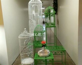 Birdcages of all sizes and colors