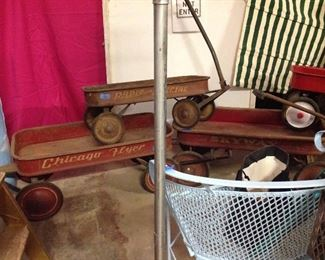 antique red wagons