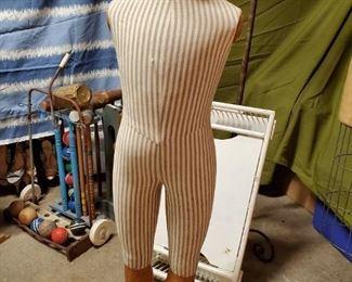 Wooden foot mannequin