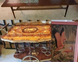 Danish Mid Century Teak coffee table, Mid Century Modern decor, Hollywood Regency