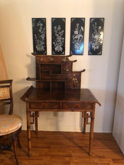 Chinese Inlaid Desk