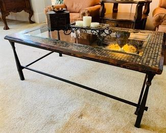 Hooker Glass Top Coffee Table