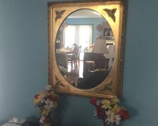Gilt wood vintage mirror