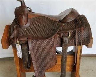 "227	  Pioneer Roping Saddle 16"" Pioneer Roping Saddle. Has complete rigging and in working condition"