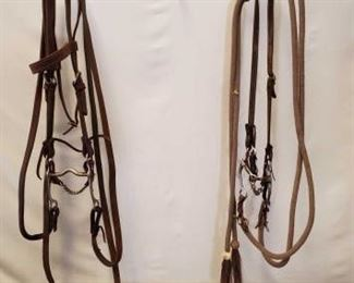 151	  Two Complete Cowboy Bridles Two Used Complete Cowboy Bridles