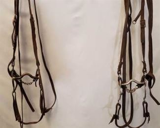153: 	  Two Complete Cowboy Bridles Two Complete Used Cowboy Bridles