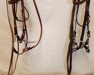 155	  Two Complete Bridles Two Complete Used Bridles