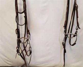 156	  Two complete Bridles with Curb Bits Two complete Used Bridles with Curb Bits