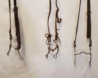 162	  Assorted Cowboy Bridle Parts Assorted Used Cowboy Bridle Parts