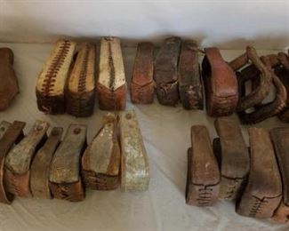 416	  Large lot of Mismatched Cowboy Stirrups Large lot of Mismatched Cowboy Stirrups.  Whats your pleasure ! Approximately 28 mixed stirrups Some need some repair