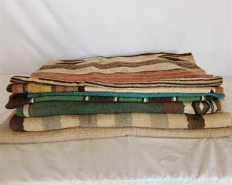 168	  7- Misc Navajo Horse Saddle Pads and Blankets 7- Misc Navajo Horse Saddle Pads and Blankets May have some old Navajos in this stack