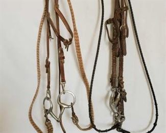 122	  Two Complete Bridles One Ring Snaffle and One Tom Thumb Snaffle Two Complete Bridles One Ring Snaffle and One Tom Thumb Snaffle