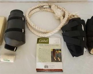 292	  Champ Ice Boot, Set of Cashhel Boomer Hock Socks, Heavy Duty Lead Rope and Neck Numbers Like new Champ Ice Boot, Set of Cashel Boomer Hock Socks, Heavy Duty Lead Rope and Neck Numbers all in one lot