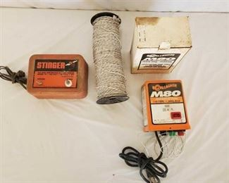 395	  Stinger and Gallagher M80 Hot Fence and Wire Stinger Model 78 120v 5w and Gallagher M80 110-120v 60hz 8mA G335 Serial # 19636 Hot Fence and Wire