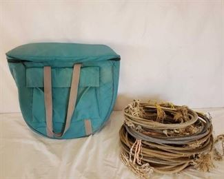 351	  Large Rope Bag and Used Ropes Large Rope Bag and Used Ropes