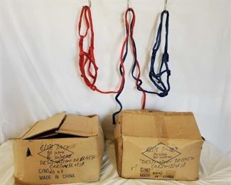520	  2 Cases of Nylon Over The Head Halters with 6 ft Leads attached 2 Cases of Nylon over the head Halters with 6 ft Leads attached 1 case of blue 1 case of red