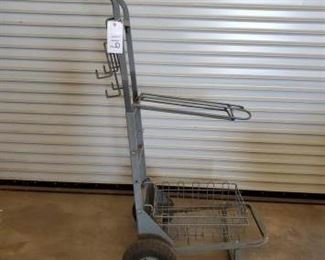 119	  Rolling Saddle, Hay and Tack Cart Very versatile large rolling saddle rack, hay and tack cart on wheels.  Roll your cowboy items right in to the barn or tack room in all most new condition