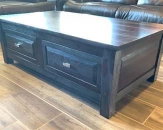 Rustic Wood Plank  Coffee Table18x30x54inHxWxD